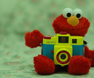 elmo, camera, and red image