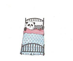 panda, illustration, and cute image