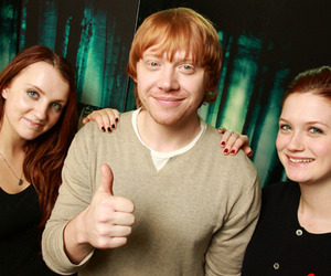 bonnie wright, rupert grint, and evanna lynch image