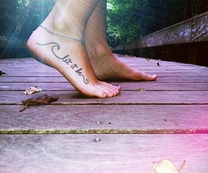 tattoo, let it be, and feet image