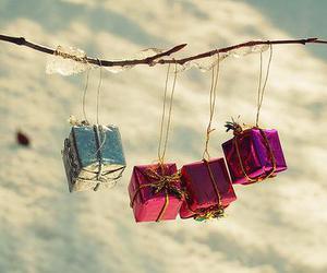gift, christmas, and snow image