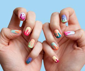 nails, nail art, and colorful image