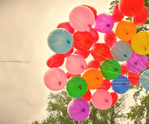 balloons, photo, and colors image