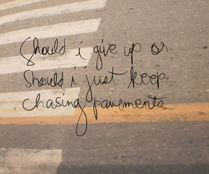 Adele, Lyrics, and chasing pavements image