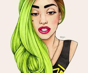Lady gaga, gaga, and green image