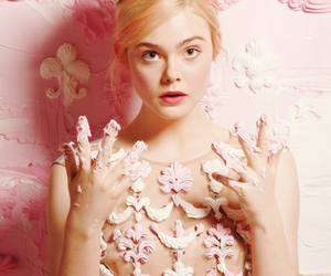 Elle Fanning, face, and pastel image