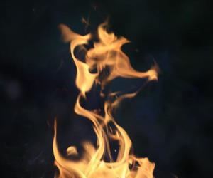 fire, grunge, and flame image