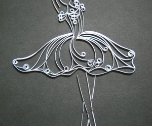 ballerina, ballet, and quilling image