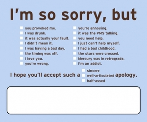 sorry, apology, and funny image