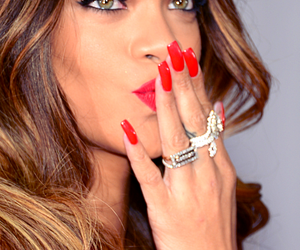 rihanna, red, and nails image