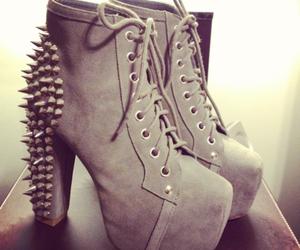 brown, heels, and studs image