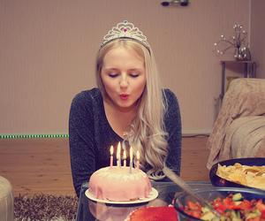 birthday, birthday cake, and blonde image
