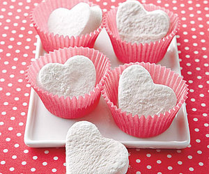 heart, food, and marshmallow image