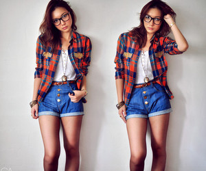 fashion, plaid, and vintage image