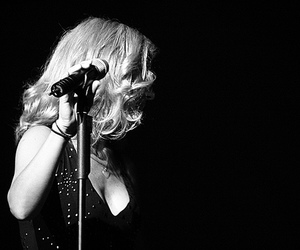 black and white, blonde, and singer image