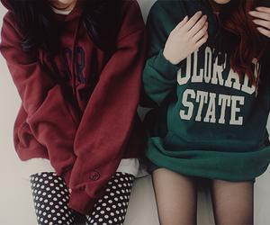 friends, sweater, and kfashion image