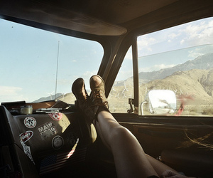 car, travel, and boots image