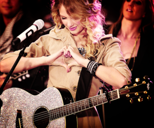 Taylor Swift, heart, and guitar image