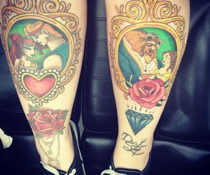 tattoo, diamond, and disney image