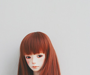 doll, freckles, and red hair image