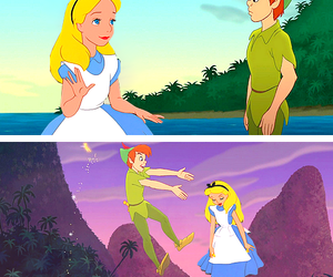 alice in wonderland and peter pan image