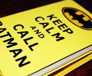 batman, keep calm, and book image