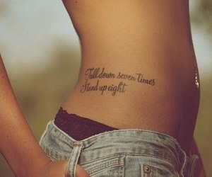 tattoo, quotes, and body image