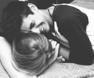 adorable, black and withe, and cuddle image