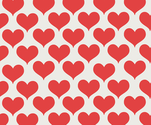 wallpaper, heart, and red image