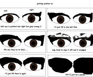 eye, eyeliner, and make up image