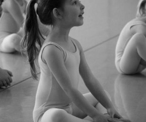 ballet, black and white, and create image