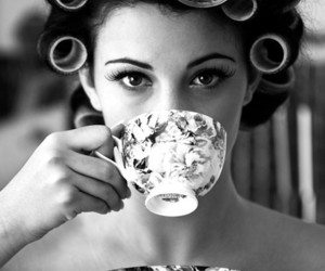tea, hair, and vintage image