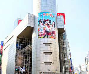 advertising, japan, and minnie mouse image