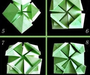 origami instructions and origami flower basket image