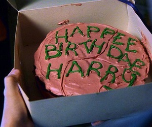 harry potter, cake, and hagrid image