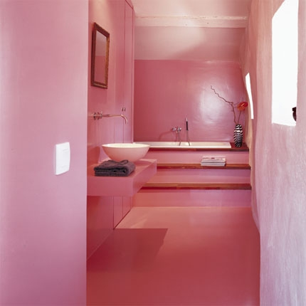 cool, pink, and room image