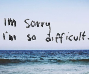sorry, quotes, and difficult image