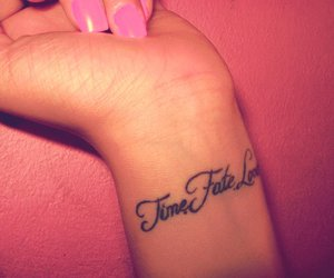 tattoo, love, and fate image