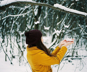 girl, photography, and snow image