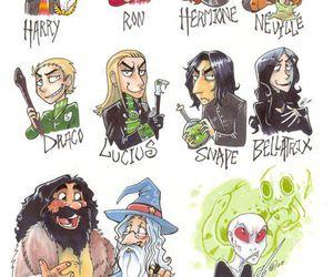 bellatrix, harry potter, and hogwarts image