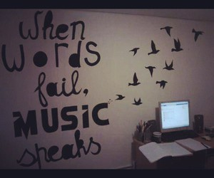bird, music, and quote image
