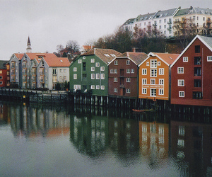 house, river, and norway image