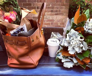 flowers, style, and bag image
