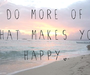 happy, quote, and beach image
