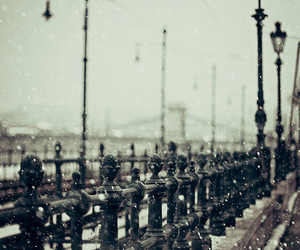 snow, winter, and budapest image