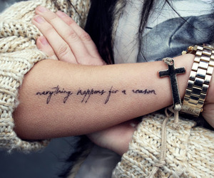 tattoo, cross, and watch image