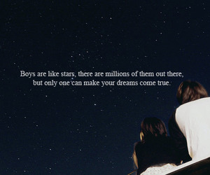 boy, stars, and quote image