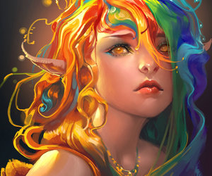 art, rainbow, and colorful image
