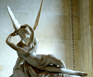 art, cupid and psyche, and sculpture image