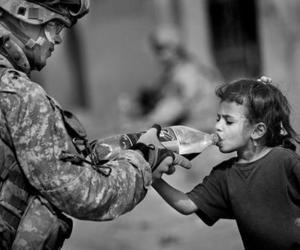 soldier, war, and child image
